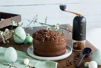 Vegan Chocolate Coffee Layer Cake for Easter