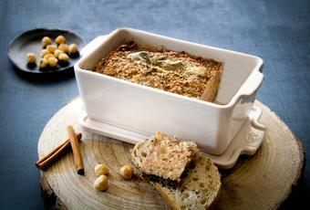 French Style Country Terrine with hazelnuts